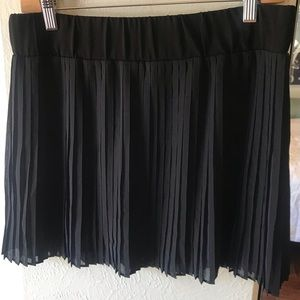 Black with navy blue sheer pleaded skirt